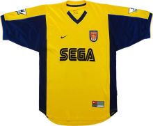 2000 Arsenal Away Yellow Retro Soccer Jersey