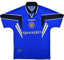 1996-1998 Man United Away Blue Retro Soccer Jersey