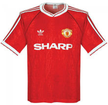 1990-1992 Man Utd Home Retro Soccer Jersey