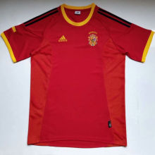 2002 Spain Home Retro Soccer Jersey