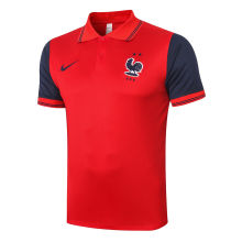 2020/21 France Red Polo Short Jersey