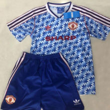 1990/92 Man Utd Away Retro Kids Soccer Jersey