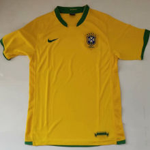 2006 Brazil Home Yellow Retro Soccer Jersey
