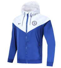 18/19 Chelsea White And Blue Windbreaker