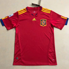 2010 Spain Home Red Retro Soccer Jersey
