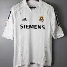 2005-2006 RM White Home Retro Soccer Jersey