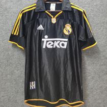 1999-2000 RM Black Away Retro Soccer Jersey