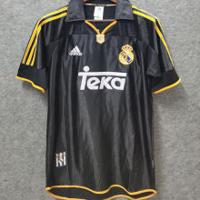1999-2000 RM Black Away Retro Soccer Jersey