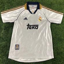 1998-2000 RM White Home Retro Soccer Jersey