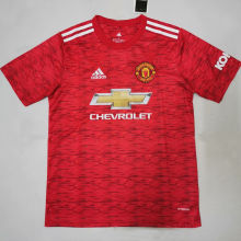 2020/21 Man Utd Home Red Fans Soccer Jersey