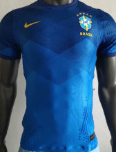 2020 Brazil Away Blue Player Soccer Jersey