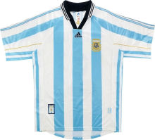 1998 Argentina Home Retro Soccer Jersey