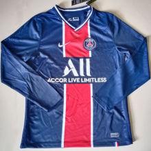 2020/21 PSG Paris Home Blue Long Sleeve Soccer Jersey