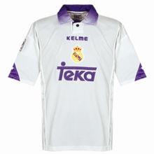 1997-1998 RM White Home Retro Soccer Jersey