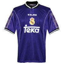 1997-1998 RM Away Blue Retro Soccer Jersey