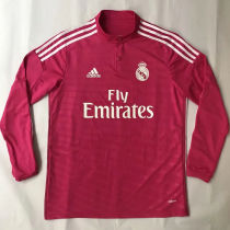 2014-2015 RM Red Retro Long Sleeve Soccer Jersey