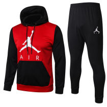 2020/21 PSG   Red And Black Hoodie Training Tracksuit