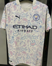 2020/21 Man City 1:1 Quality Away White Fans Soccer Jersey