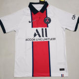 2020/21 PSG 1:1 Quality Away White Fans Soccer Jersey
