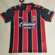 2020/21 Chivas Away Red And Black Fans Soccer Jersey