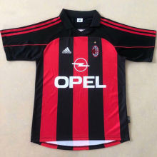 2000-2002 AC Milan Home Retro Soccer Jersey