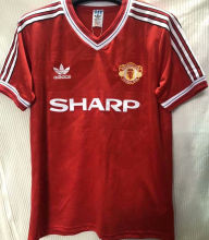 1986-1988 Man Utd Home Red Retro Soccer Jersey