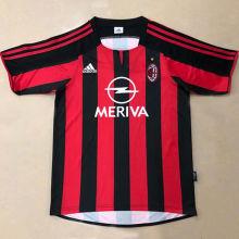 2003/04 AC Milan Home Retro Soccer Jersey