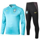 2020/21 Brazil Blue Half Pull Sweater Tracksuit