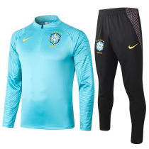 2020/21 Brazil Blue Half Pull Sweater Tracksuit