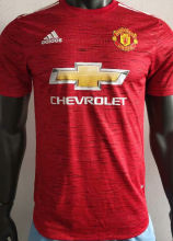 2020/21 Man Utd Home Red Player Soccer Jersey