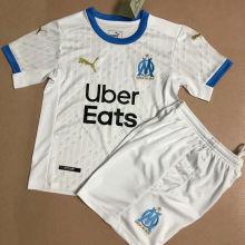 2020/21 Marseille Home White Kids Soccer Jersey