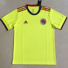 2020 Colombia Home Yellow Fans Soccer Jersey