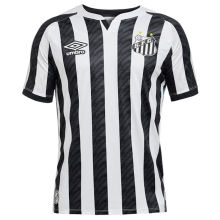 2020/21 Santos 1:1 Quality Black And White Fans Soccer Jersey