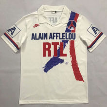 1990-1991 PSG  Home Retro Soccer Jersey