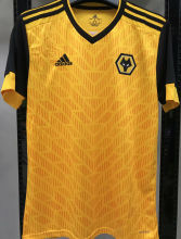 2020/21 Wolves 1:1 Quality Home Yellow Fans Soccer Jersey
