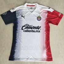 2020/21 Chivas Away White Fans Soccer Jersey