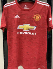 2020/21 Man Utd 1:1 Quality Home Red Fans Soccer Jersey