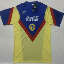 1988 Club America Home Yellow Retro Soccer Jersey
