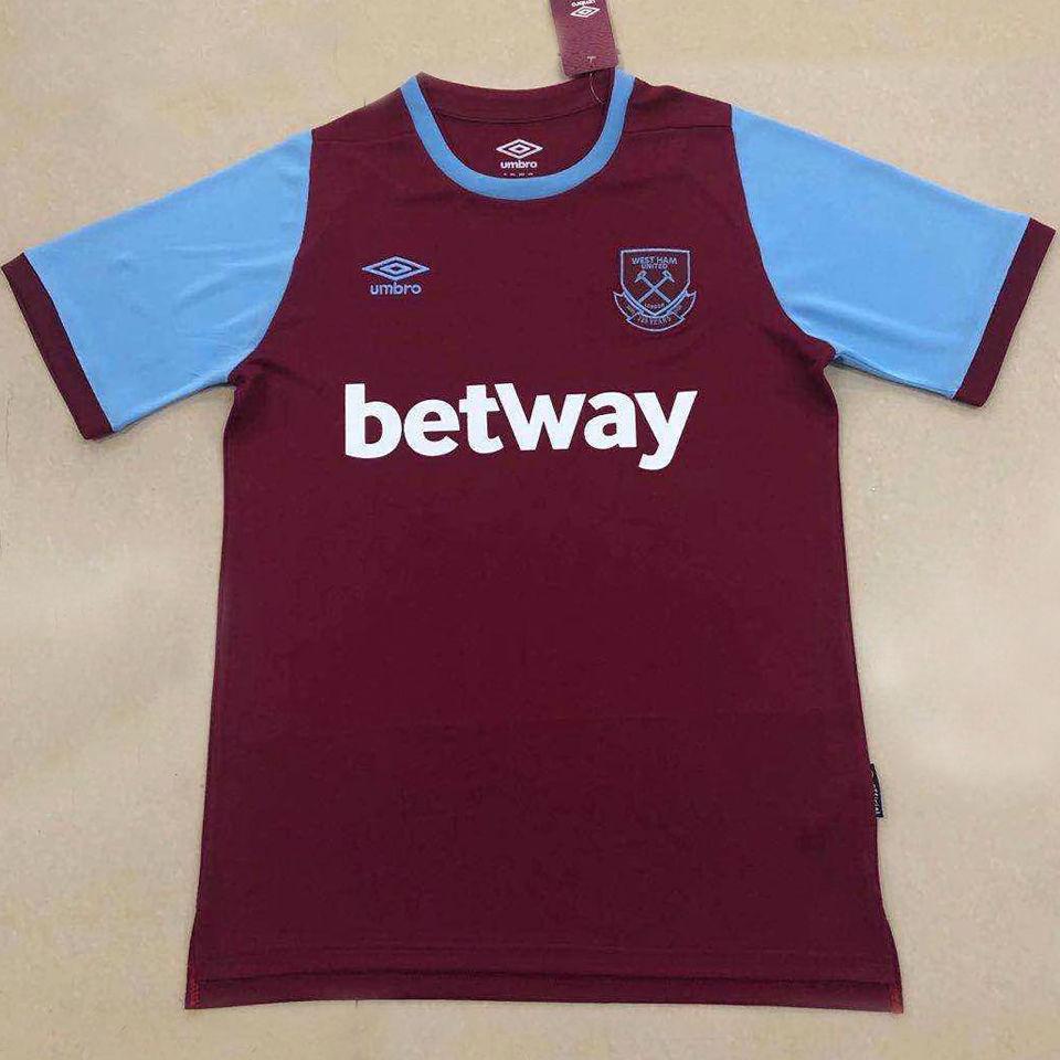 2020/21 West Ham Home Fans Soccer Jersey