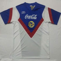 1988 Club America Away White Retro Soccer Jersey