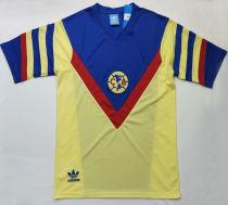 1987 Club America Home Yellow Retro Soccer Jersey