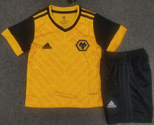 2020/21 Wolves Home Yellow Kids Soccer Jersey