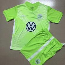 2020/21 Wolfsburg Home Green Kids Soccer Jersey