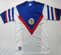 1987 Club America Away White Retro Soccer Jersey