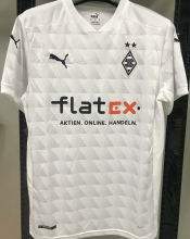 2020/21 Monchengladbach 1:1 Quality Home White Fans Soccer Jersey