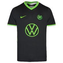 2020/21 Wolfsburg Away Black Fans Soccer Jersey