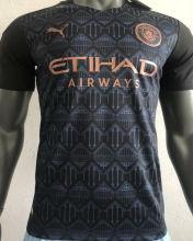 2020/21 Man City Away Black Player Version Soccer Jersey