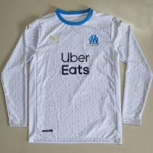 2020/21 Marseille Home Long Sleeve Soccer Jersey