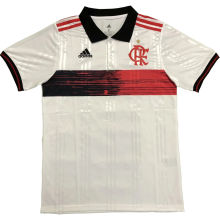 2020/21 Flamengo White Polo Short Jersey