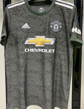 2020/21 Man Utd 1:1 Quality Away Black Fans Soccer Jersey